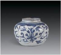 青花西蕃莲纹扁罐 -  - 瓷器 玉石 - 2007春季艺术品拍卖会 -收藏网