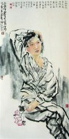 人物 镜心 设色纸本 - 123389 - 中国书画 - 2007春季中国书画拍卖会 -收藏网