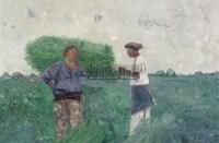 清晨 布面油彩 - 聂鸥 - 中国油画及雕塑 - 2006年春季拍卖会 -收藏网