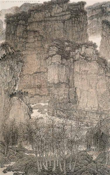 刘彦水 幽幽太行 镜心 设色纸本 - 122629 - 当代中国书画(一) - 2006畅月(55期)拍卖会 -收藏网