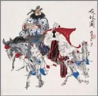 嫁妹图 立轴 设色纸本 - 叶毓中 - 中国书画 - 2007年夏季拍卖会 -收藏网