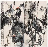 花鸟 四屏 - 林金定 - 中国书画 - 2007春季拍卖会 -收藏网