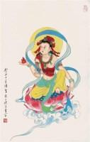 佛像 立轴 纸本 - 潘絜兹 - 中国书画 - 2011中国艺术品拍卖会 -收藏网