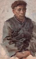 老人肖像 布面 油画 - 何多苓 - 油画专场 - 2006年秋季拍卖会 -收藏网