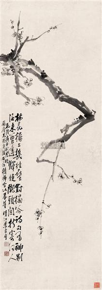 花鸟画《梅》 立轴 纸本 - 116888 - 中国书画 - 2007年春季暨首场拍卖会 -收藏网