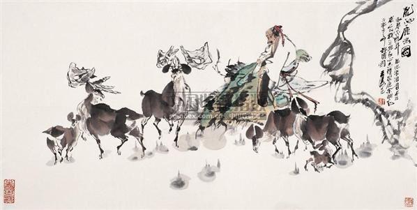 人物 镜心 设色纸本 - 54196 - 中国书画 - 2005首届书画拍卖会 -收藏网