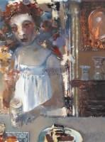 午茶 布面 油画 - 夏俊娜 - 中国油画 - 2006秋季大型艺术品拍卖会 -收藏网