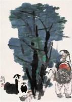 聂鸥 1985年作 人物 立轴 纸本 - 聂鸥 - 中国书画(一) - 2006年第4期嘉德四季拍卖会 -收藏网