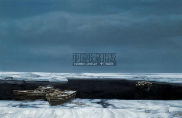 雪后的海湾 布面 油画 - 153441 - 现当代中国艺术日场 - 2007春季拍卖会 -收藏网
