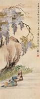朱梦庐 1977年作 花鸟 立轴 设色绢本 -  - 中国书画 - 2006秋季文物艺术品展销会 -中国收藏网