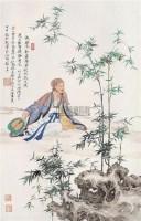 竹林高士 镜心 设色纸本 - 任重 - 中国近现代书画 - 2005秋季艺术品拍卖会 -收藏网