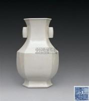 仿宋官釉六方贯耳瓶 -  - 古代瓷器工艺品专场 - 2008春季艺术品拍卖会 -收藏网