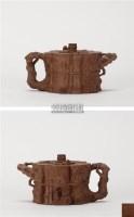 陈鸣远款  束柴三友壶 -  - 中国当代高端工艺品 - 2011年春季拍卖会 -收藏网