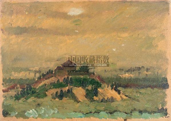 工厂远眺 板上  油彩 - 141111 - 西洋美术专场 - 2005年春季艺术品拍卖会 -收藏网