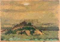 工厂远眺 板上  油彩 - 戴秉心 - 西洋美术专场 - 2005年春季艺术品拍卖会 -收藏网