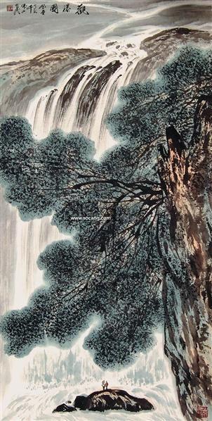 山水 镜片 纸本 - 129692 - 中国书画 - 2011当代艺术品拍卖会 -收藏网