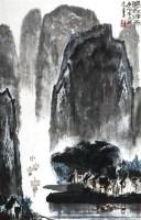 漓江烟雨 镜心 设色纸本 - 125070 - 当代书画名家精品专场 - 2008春季拍卖会 -收藏网