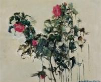 周春芽 玫瑰 布面油画 - 8738 - 中国油画 - 2006秋季艺术品拍卖会 -收藏网