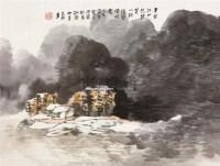 半壁江山凭歌笑 一枕涛声带晚霞 镜片 设色纸本 - 20759 - 书画 - 2011年拍卖会 -收藏网