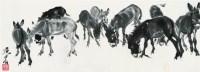 群驴图 立轴 水墨纸本 - 黄胄 - 中国书画 - 2008太平洋迎春艺术品拍卖会 -收藏网