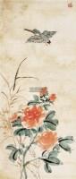 红花翠鸟 镜心 纸本设色 - 116142 - 中国书画(二) - 2011春季艺术品拍卖会 -收藏网