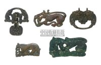 A GROUP OF FIVE BRONZE FIGURAL FITTINGS -  - 中国进出口瓷器 - 2009秋季拍卖会(二) -收藏网