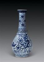 青花龙凤纹洗口瓶 -  - 中国瓷器 杂项 玉器 - 2008秋季拍卖会 -收藏网