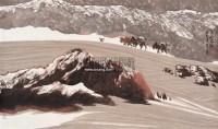 天山大漠 镜心 水墨纸本 - 周尊圣 - 中国书画 - 第117期月末拍卖会 -收藏网