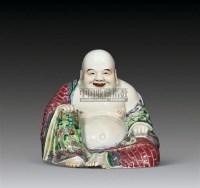 清晚期 粉彩弥勒佛坐像 -  - 古董文玩 - 第68期拍卖会 -收藏网