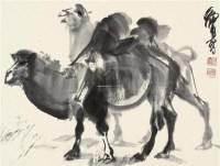 双驼图 镜片 水墨纸本 - 7693 - 中国书画(一) - 2011年秋季艺术品拍卖会 -收藏网