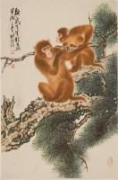 周北溪(1913—2002)松猴图 - 13390 - 雅纸藏中国现当代书画 - 2007首届秋季艺术品拍卖会 -中国收藏网