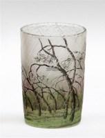 杜姆兄弟 风中树林图景花瓶 -  - 装饰美术 - 2011秋季伊斯特香港拍卖会 -收藏网