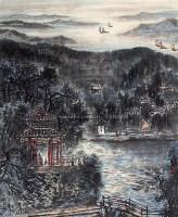 山水 立轴 设色纸本 - 118357 - 中国书画 - 2006新年拍卖会 -收藏网