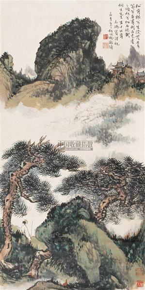松石延龄 立轴 纸本 - 116692 - 中国书画(一) - 2006年秋季艺术品拍卖会 -收藏网