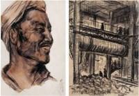 乌叔养 人物、工厂(二件) -  - 油画 水彩画 - 2007年春季艺术品拍卖会 -收藏网