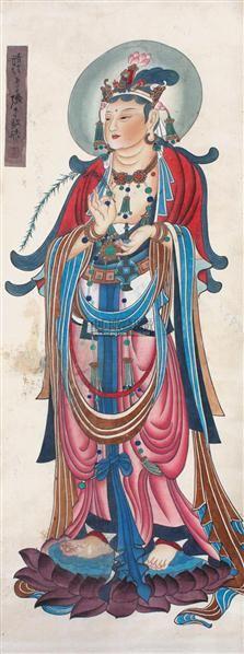 佛像 立轴 纸本 - 116070 - 中国书画 - 2011中国艺术品拍卖会 -收藏网