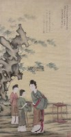 仕女 立轴 设色绢本 - 冷枚 - 中国书画 - 2011年春季拍卖会(329期) -收藏网