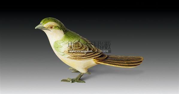 象牙彩绘小鸟件 -  - 古器风韵专场 - 苏州2011春季艺术品拍卖会 -收藏网