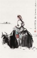 人物 带框 设色纸本 - 4594 - 中国书画专场 - 2008第三季艺术品拍卖会 -收藏网