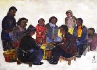 林风眠农村生活 -  - 书画 - 2008迎春书画艺术精品拍卖会 -收藏网