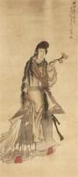 人物 立轴 绢本 - 5984 - 中国书画(一) - 庆二周年秋季拍卖会 -收藏网