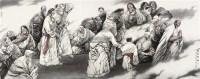 祥云飘过 镜片 设色纸本 - 顾长平 - 中国书画(二) - 2011秋季拍卖会 -收藏网