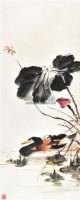 """荷花蜻蜓 立轴 设色纸本 - 116837 - 中国书画 - 2011春季""""金融与收藏""""拍卖会 -中国收藏网"""