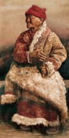 耿万义 红衣老太 布面油彩 - 耿万义 - 中国当代油画与水彩画 - 2006金秋艺术精品拍卖会 -收藏网