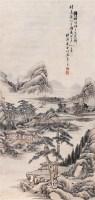 溪山茅舍 立轴 设色纸本 - 竹樵 - 中国书画(二) - 2005年春季拍卖会 -收藏网