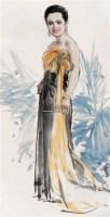 """王后肖像 镜心 设色纸本 - 陈振国 - """"翰墨缘""""名家留珍 - 2006广州冬季拍卖会 -收藏网"""