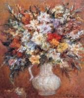 瓶花 布面油画 - 雷双 - 中国油画 - 2005秋季大型艺术品拍卖会 -中国收藏网