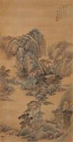 雍正十年(1732年)作 塔影钟声诗意图 立轴 设色绢本 - 2793 - 中国古代书画 - 2006秋季拍卖会 -收藏网