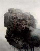 黑色的石头 黑色的马 布面 油画 - 周春芽 - 油画专场 - 2008春季艺术品拍卖会 -收藏网