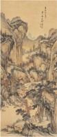 秋山听泉图 立轴 设色纸本 - 140288 - 中国书画古代作品专场(清代) - 2008年春季拍卖会 -中国收藏网